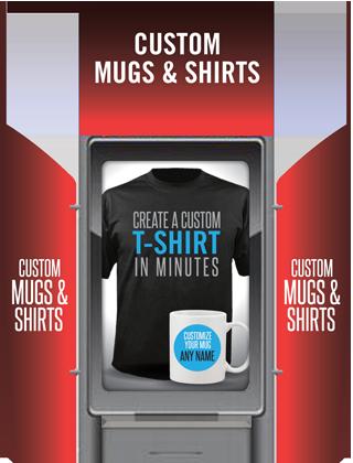 Customize your mugs and shirts